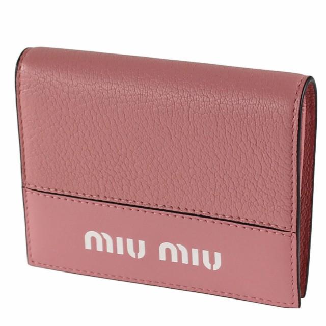 hot sale online 70434 b14de ミュウミュウ 折りたたみ財布 MIU MIU 5MV204 2BU4 ピンク
