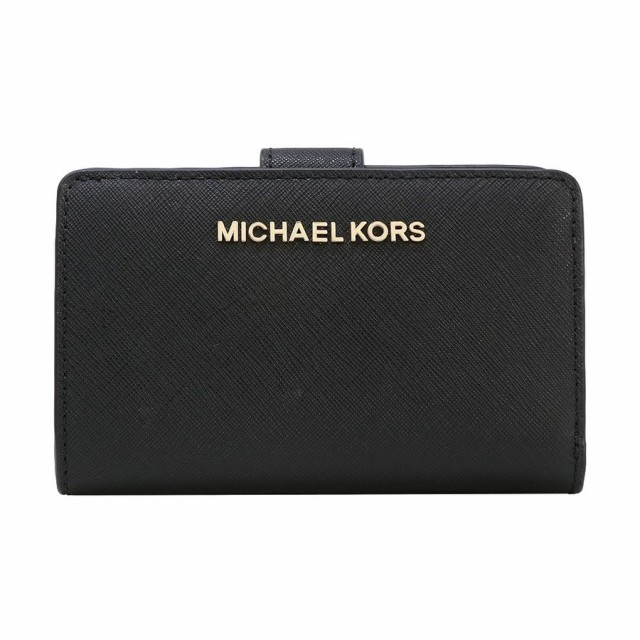 3e5fae07017c 【ポイント2倍】マイケルコース 二つ折り財布 レディース MICHAEL KORS 35F7GTVF2L BLACK アウトレット