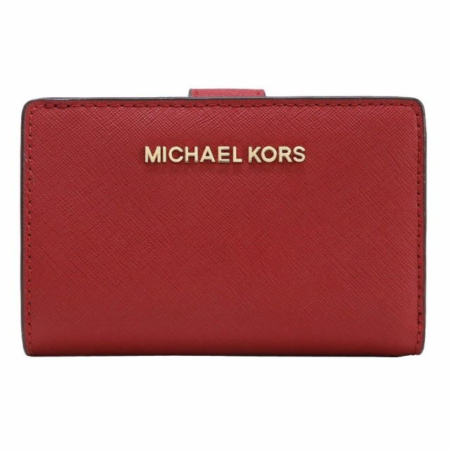 74727ddde980 【ポイント2倍】マイケルコース 二つ折り財布 レディース MICHAEL KORS 35F7GTVF2L SCARLET アウトレット