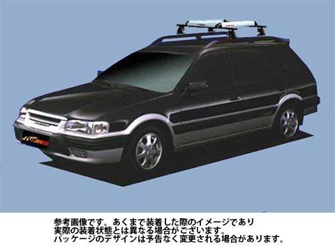 【限定製作】 システムキャリア トヨタ TOYOTA スプリンターカリブ 型式 AE111G AE114G AE115G RA4 ルーフ標準 1台分 タフレック TUFREQ, LOG CABIN ログキャビン 8444a923