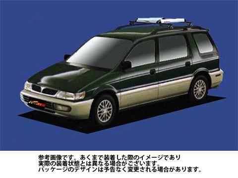 オリジナル システムキャリア ミツビシ 三菱 MITSUBISHI シャリオ 型式 N33W N34W N38W RA4 ルーフキャリア標準 1台分 タフレック TUFREQ, sunny days c5adc8d6