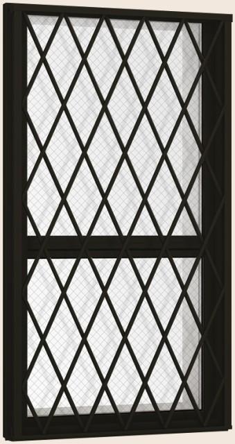 宅配 防火戸FG-H 面格子付き 上げ下げ窓FS Low-E複層ガラス(網入り) / アルミスペーサー仕様 03607 W:405mm × H:770mm LIXIL リクシル TOST, スイーツ&ジェラテリア バロック 0bca810e