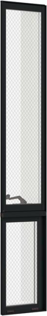 【高知インター店】 防火戸FG-H LOW-E複層ガラス 縦すべり出し窓オペレーターTF(FIX内押縁) 単体 サッシ 呼称 03620(テラス) W:405mm × H:2,030mm リクシ, 厨房良品 55fce1ee