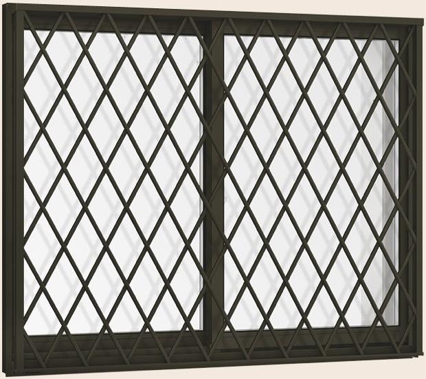 選ぶなら サーモスII-H 引き違い 2枚建て ヒシクロス面格子付き 一般複層ガラス仕様 17611 W:1,800mm × H:1,170mm LIXIL リクシル TOSTEM トス, 鳥越村 8dbedc91