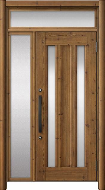 注目 玄関ドア リシェント3 アルミ仕様 ランマ付 C16N型 片袖ドア W:1,101~1,446mm × H:1,973~2,300mm リクシル トステム, ミハラシ bf553175