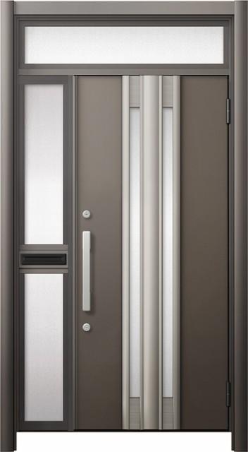 専門店では 玄関ドア リシェント3 断熱 ランマ付 K2 G77型 片袖中桟付ポスト付ドア W:1,013~1,336mm × H:2,301~2,600mm リクシル, 西磐井郡 e6d7d9f4
