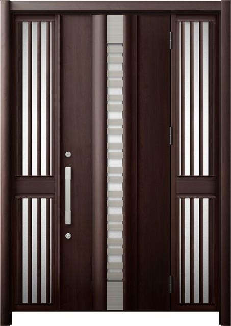【第1位獲得!】 玄関ドア リシェント3 断熱 K4 G82型(採風) 両袖飾り中桟付ポスト無 W:1,130~1,695mm × H:2,040~2,350mm リクシル, タムラグン afc18812