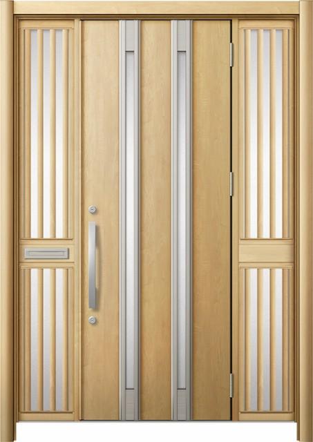 素晴らしい 玄関ドア リシェント3 断熱 K2 M24型 両袖飾り中桟付ポスト付 W:1,530~1,695mm × H:1,739~2,039mm リクシル, 菊陽町 5828e6c6