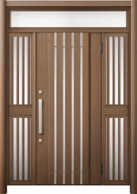 最新発見 玄関ドア リシェント3 断熱 K4 M27型 両袖ランマ付飾り中桟付ポスト無 W:1,030~1,695mm × H:2,301~2,600mm リクシル, オオエチョウ 2d6e80bc