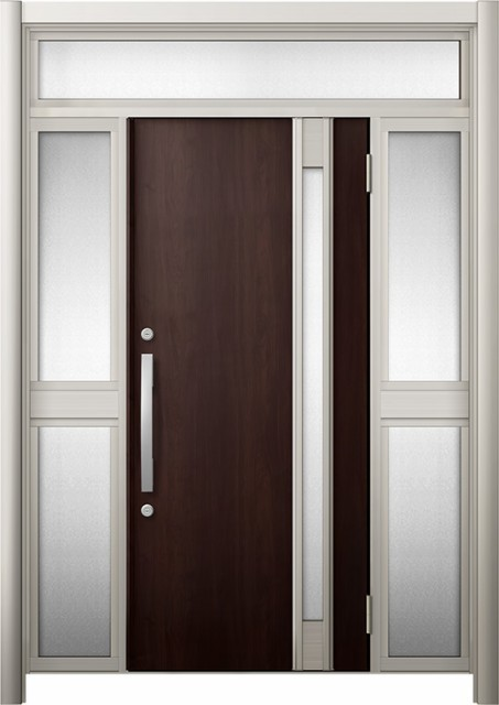 【大放出セール】 玄関ドア リシェント3 断熱 K4 M78型 両袖ランマ付中桟付ポスト無 W:1,030~1,695mm × H:1,974~2,300mm リクシル, S-punky(スパンキー) 3ea74b97