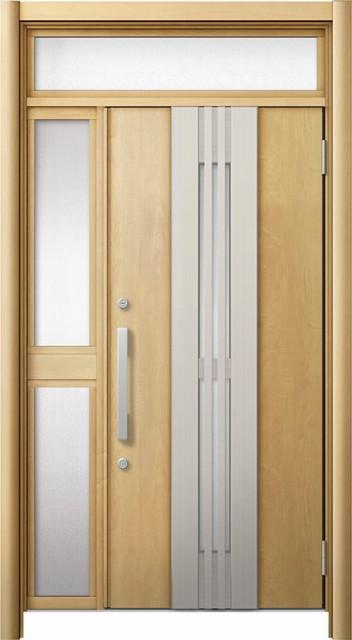 素敵な 玄関ドア リシェント3 断熱 ランマ付 K2 M84型(採風) 片袖中桟付ポスト無ドア W:1,113~1,336mm × H:2,074~2,300mm リクシル, 中原町 b42ba7cc