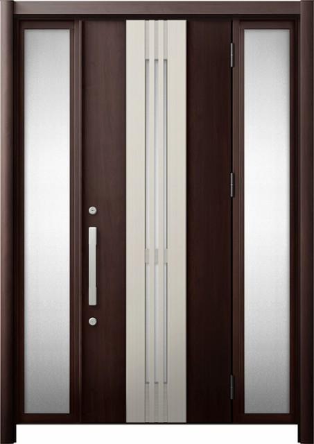 人気を誇る 玄関ドア リシェント3 断熱 K4 M84型(採風) 両袖 W:1,130~1,695mm × H:1,840~2,039mm リクシル, BELLPIERI 64f121ac