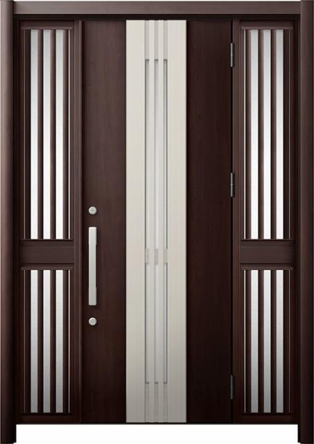 【激安大特価!】  玄関ドア リシェント3 断熱 K2 M84型(採風) 両袖飾り中桟付ポスト無 W:1,130~1,695mm × H:2,040~2,350mm リクシル, タカシマチョウ 321dc5f9