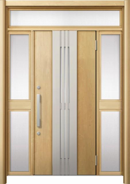 正式的 玄関ドア リシェント3 断熱 K4 M84型(採風) 両袖ランマ付中桟付ポスト無 W:1,130~1,695mm × H:2,301~2,600mm リクシル, インドカレーのハリオン 686ec0e7