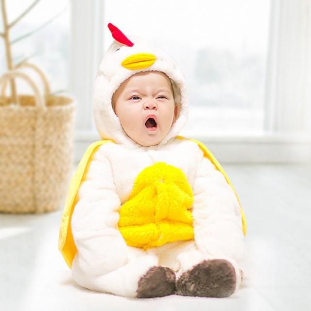 b89855b4f3b7f 男女兼用赤ちゃんカバーオール 新生児オールインワン オーバーホール ベビーサロペット 3色ベビーウェァ 足付き パジャマ 厚手