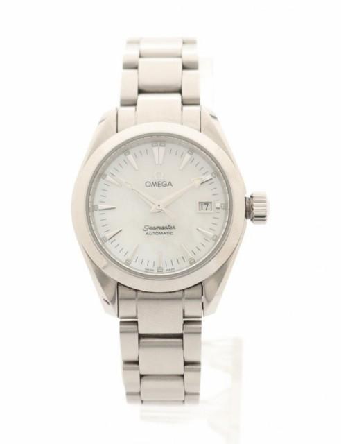 日本限定 シェル文字盤 SS  2573.7 レディース オメガ シーマスター レディース 腕時計 新着 OMEGA アクアテラ シルバー 自動巻き-腕時計レディース