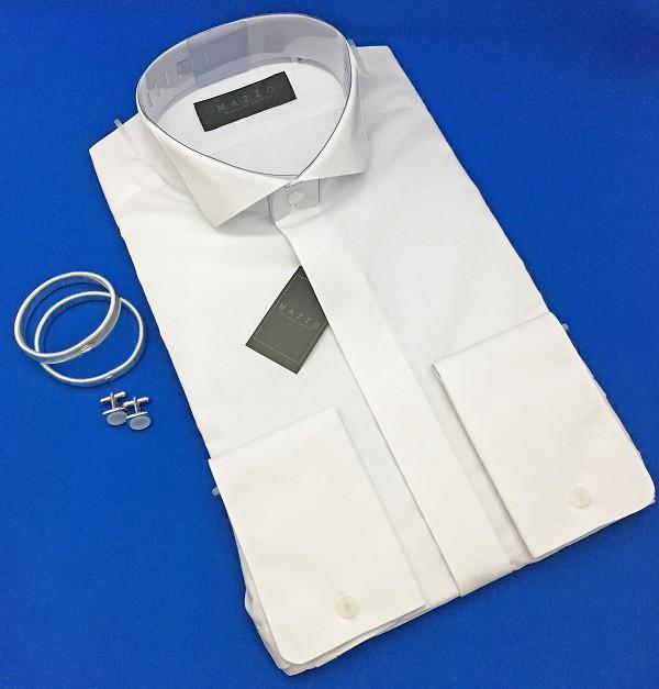 9f6607a18e53f  ウィングカラーシャツ  ちょっとグレードアップ ダブルカフス仕様 と小物6点セット  3営業 ...