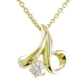 本物品質の 送料無料 0.10ct ダイヤモンド イエローゴールドk18 ダイヤ 一粒 ネックレス 18金 人気 レディース ダイヤモンドネックレス チェーン-ネックレス