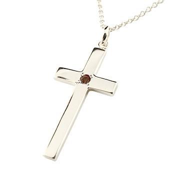 お気に入り プラチナ 地金 ネックレス ガーネット クロス プラチナ ネックレス 十字架 ペンダント 十字架 シンプル ネックレス 地金 チェーン 人気 1月の誕生石 送料無料 レ, バイクCITY:e7a4b08e --- chevron9.de