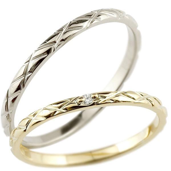 【希少!!】 結婚指輪 ペアリング マリッジリング ペアリング ダイヤモンド イエローゴールドk10 ホワイトゴールド 一粒 10金 10金 一粒 華奢 送料無料 パートナー メンズ, 萬屋本舗:1f6d7b0b --- oeko-landbau-beratung.de