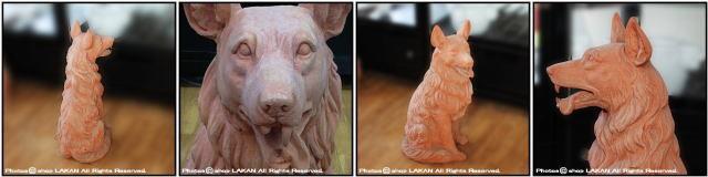 トスカーナ 動物置物 牧羊犬 老舗テラコッタメーカー ヴァセリエ シェパード 番犬 ガーデンオブジェ イタリア製