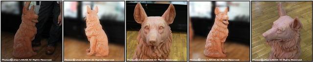 トスカーナ ヴァセリエ ガーデンオブジェ 牧羊犬 老舗テラコッタメーカー イタリア製 シェパード 番犬 動物置物
