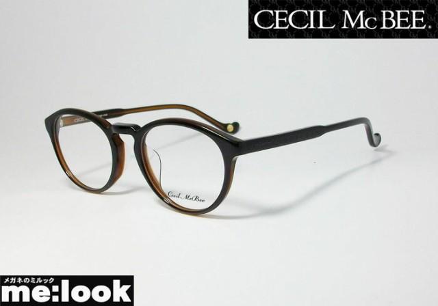 CECIL McBEE セシルマクビー 訳あり  レディース クラシック ボストン ラウンド 眼鏡 メガネ フレーム CMF7048-4-48 度付可 ブラック