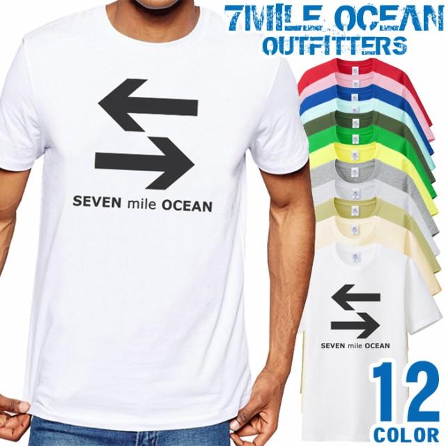7mile Ocean Tシャツ メンズ 半袖 カットソー アメカジ 矢印 イラスト