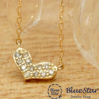 若者の大愛商品 オープンハート パヴェダイヤモンドネックレス BlueStar-ネックレス