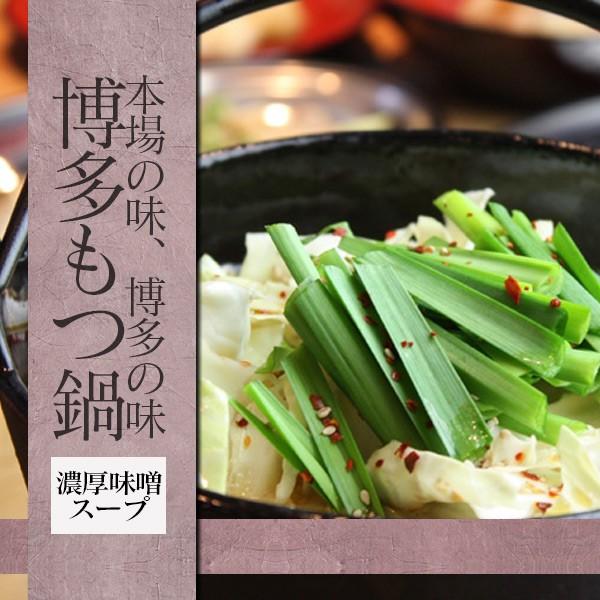 【送料無料】【博多名物】1000円ポッキリ! 博多もつ鍋 濃厚味噌スープ レシピ付 1~2人前 もつ肉220g入り