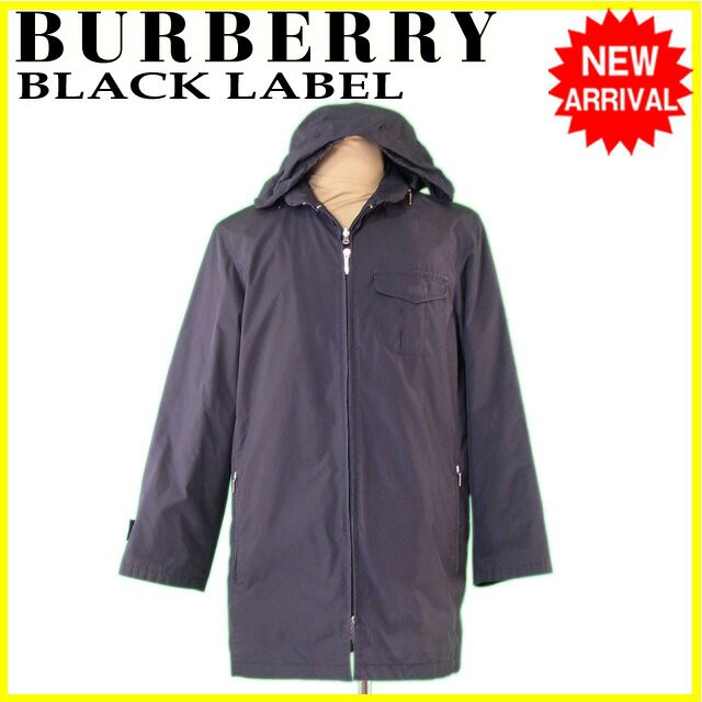 【60%OFF】 バーバリーブラックレーベル BURBERRY BLACK LABEL コート 服 上着 服 フード付き メンズ シングルZIP 【】 L2207, うさうさラビトリー d3c4d68d