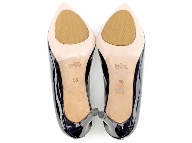 d9db59117b68 コーチ COACH パンプス シューズ 靴 レディース ポインテッドトゥ 【中古】 T5243