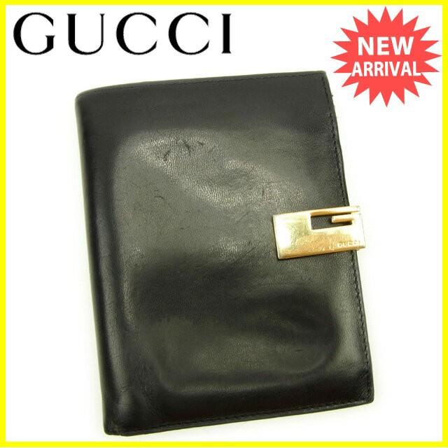 a33930de8616 グッチ Gucci 二つ折り財布 財布 小物 サイフ メンズ可 Gクリップ 【中古】 Y5864