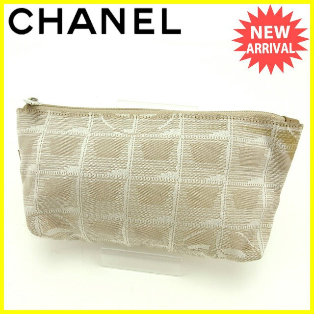 acc86bca111f シャネル CHANEL ポーチ 化粧ポーチ メンズ可 ニュートラベルライン 【中古】 L1114