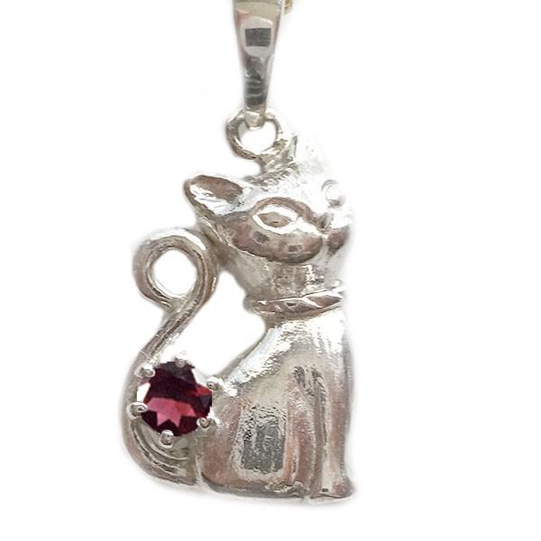 激安特価  ネコ ペンダント ネックレス プラチナ900 1月誕生石 ガーネット Pt900 ねこ 猫, サカイデシ b88ff9d8