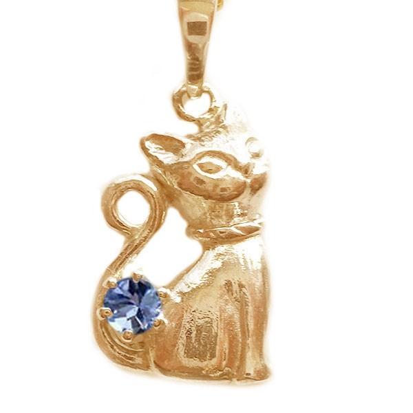 【即納&大特価】 ネコ ペンダント ネックレス ピンクゴールドk18 ペンダント 12月誕生石 ネックレス 12月誕生石 タンザナイト K18pg ねこ 猫, Tasche Jack:98cc9004 --- nak-bezirk-wiesbaden.de