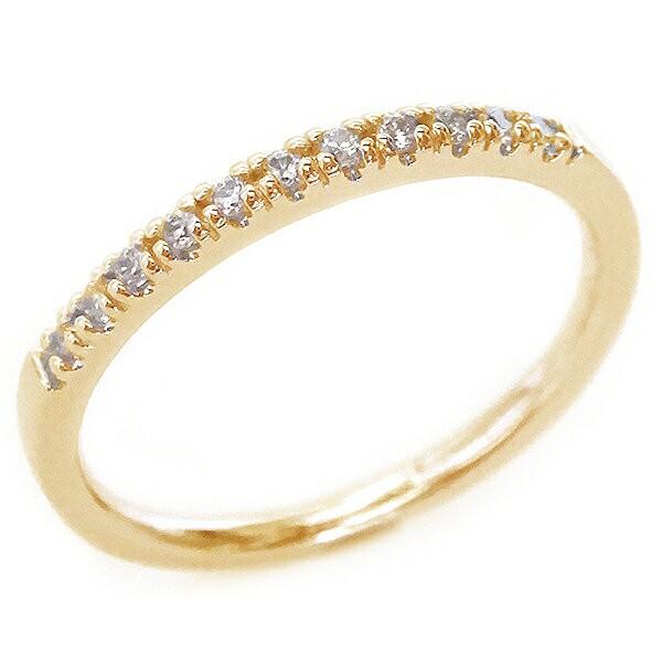 値段が激安 ピンクゴールド K10 ハーフ ダイヤモンド ハーフ ピンクゴールド エタニティー ダイヤモンド リング K10pg, 白馬ブルークリフ:d675c712 --- chevron9.de