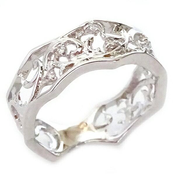 【高知インター店】 ホワイトゴールド リング K18 リング ダイヤモンド ダイヤモンド 透かし 幅広 透かし ピンキーリング K18wg, ブラックジャックショップ:8ef69202 --- stunset.de