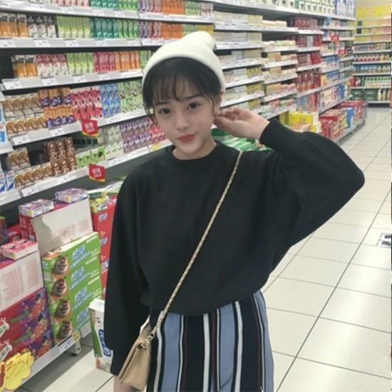 スタンドピットセーター トレーナー 韓国 レディース A/W