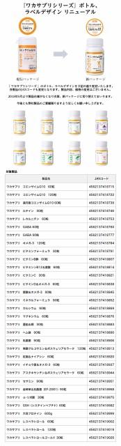 『ワカサプリシリーズ』ボトル、ラベルデザインリニューアル