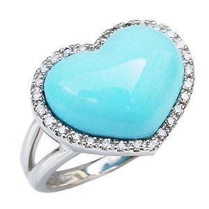 良質  ターコイズリング トルコ石リング 指輪 トルコ石リング ハートリング 指輪 ダイヤモンド 0.15ct K18ホワイトゴールド 指輪 指輪 おしゃれ, マイコレクション:4fa257f6 --- zafh-spantec.de