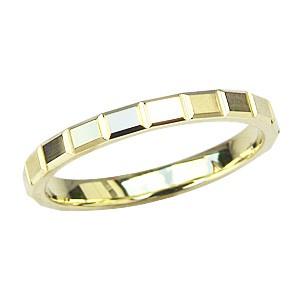 肌触りがいい シンプル 指輪 地金リング K18 ゴールド マリッジリング デザインカットリング 指輪 おしゃれ, 大樹町 03d1b547