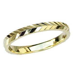 2019年新作入荷 K18 ゴールド シンプル マリッジリング デザインカットリング 地金リング 結婚指輪 指輪 おしゃれ, 上海堂ストア e16a2575