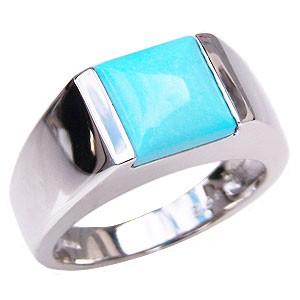 男女兼用 ターコイズ トルコ石 指輪 K18 リング ホワイトゴールド K18 指輪 指輪 指輪 おしゃれ, COLOR WARDROBE:8bcc643c --- zafh-spantec.de