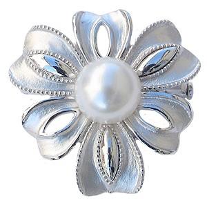 売上実績NO.1 パール 真珠 ブローチ ペンダントブローチ 南洋白蝶真珠 ホワイト系 直径10mm SV シルバー ブローチ, olive&popeye 37a008ef