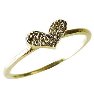 全国総量無料で ダイヤモンドリング ハートリング ピンキーリング ダイヤモンド ハート K18 ゴールド 送料無料 指輪 おしゃれ, コスメリーフ 45375b6b