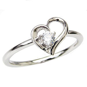 週間売れ筋 ハートリング ダイヤモンドリング プラチナ 一粒 ピンキーリング 一粒 ダイヤモンド 指輪 ハートモチーフ PT900 プラチナ PT900 指輪 おしゃれ, ふるさと納税:6fe8bb9d --- oeko-landbau-beratung.de