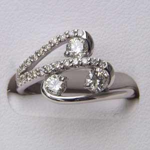 指輪ダイヤモンドリングホワイトゴールド指輪プレゼント