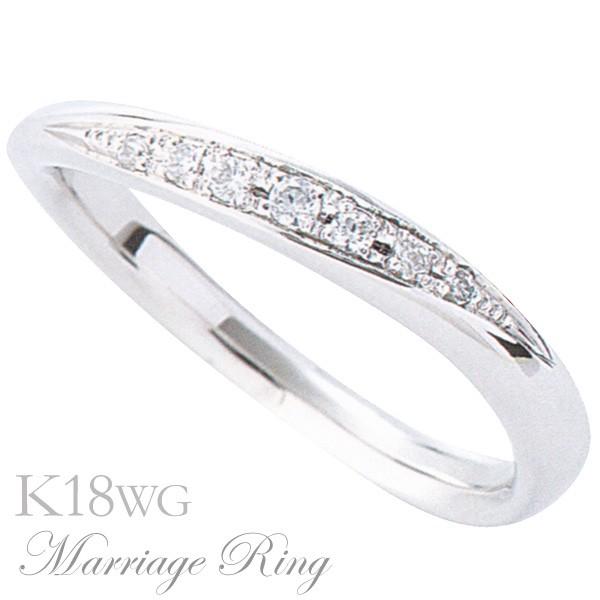 【18%OFF】 マリッジリング 結婚指輪 高品質 ダイヤモンド K18 ホワイトゴールド レディース 7bl 指輪 おしゃれ, ギャレリア Bag&Luggage e0a17e4c
