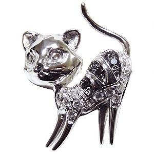 新作からSALEアイテム等お得な商品満載 ブローチ ねこ ネコ ピンズ 猫 CAT ラベルピン ダイヤモンド K18WGホワイトゴールド ジュエリー, ロートアルミのブルーティアラ 860826a8